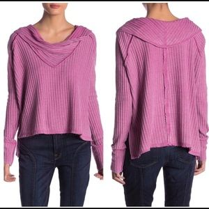 Free People Wildcat Cowlneck Thermal In Rose